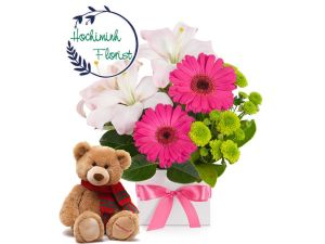 Mix Flower And Teddy