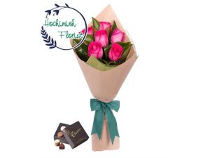 Pink Roses And Chocolate