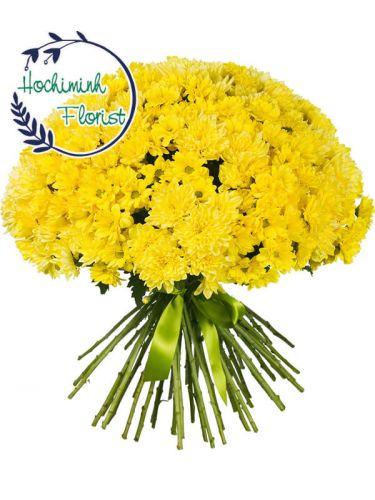 5 Dozen Yellow Gerberas In A Bouquet