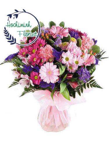 5 Dozen Mixed Gerberas In A Bouquet