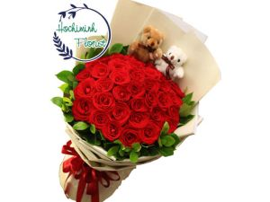 Five Dozen Red Roses In A Bouquet
