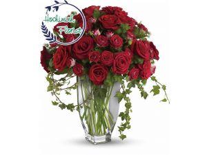 Five Dozen Red Roses In A Vase