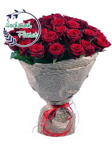 4 Dozen Red Roses In A Bouquet