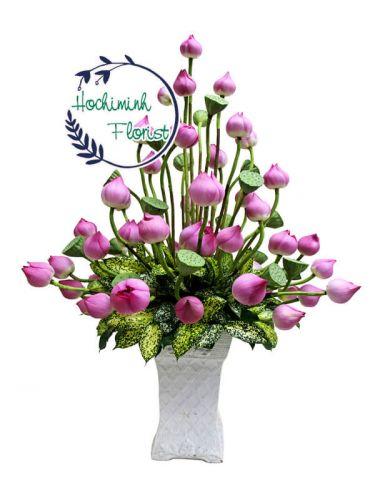 Pink Lotus In A Vase