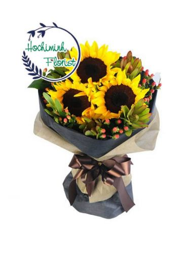 Sunflowers In A Bouquet