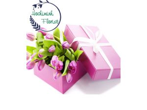 Pink Tulips In A Box