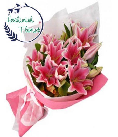 2 Dozen Pink Lilies In The Bouquet