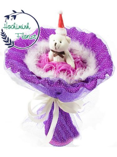 Airtificial Flowers And Bears 011