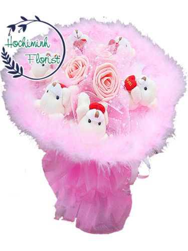 Airtificial Flowers And Bears 007